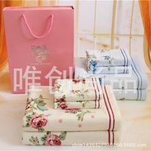 出口日本毛巾纯棉纱布无捻套装礼盒  商务生日宴会礼品