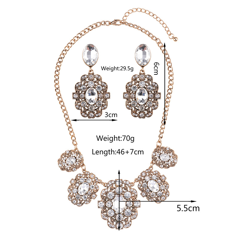 other alloy Diamond necklace (Silver)NHYT0517-Silver