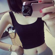 新款短款打底背心韩版修身莫代尔短款U字背心女吊带小背心夏季