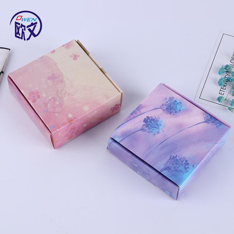 手工皂牛皮纸盒 精油香皂包装盒现货 通用飞机盒小纸盒批发 定做