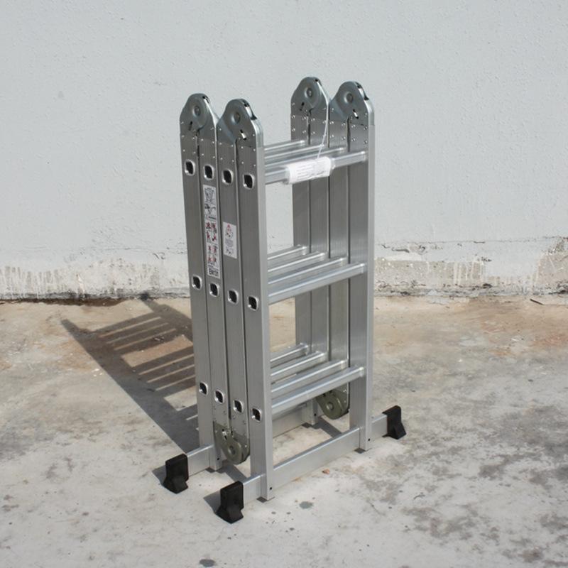 厂家直销多功能折叠梯子铝合金加厚人字梯家用梯伸缩升降阁楼工程