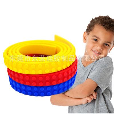硅胶有趣多功能积木条兼容乐高玩具儿童益智DIY积木便携拼接玩具