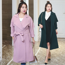 New fat mm plus fertilizer XL women's autumn new long paragraph 200 kg windbreaker jacket generation 6441