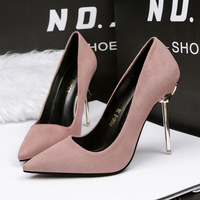 608-8 contracted fashion new shallow mouth pointed professional pure color light mouth with low heels help fairy single shoes