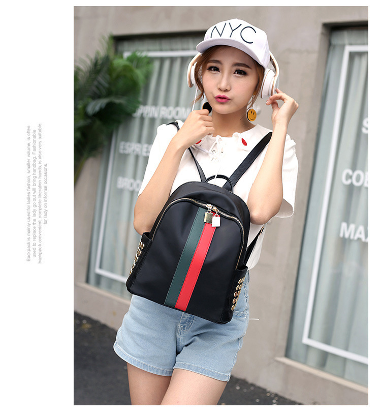 Cute Other  backpack  (Red and green stripes)  NHXC0200-Red and green stripes