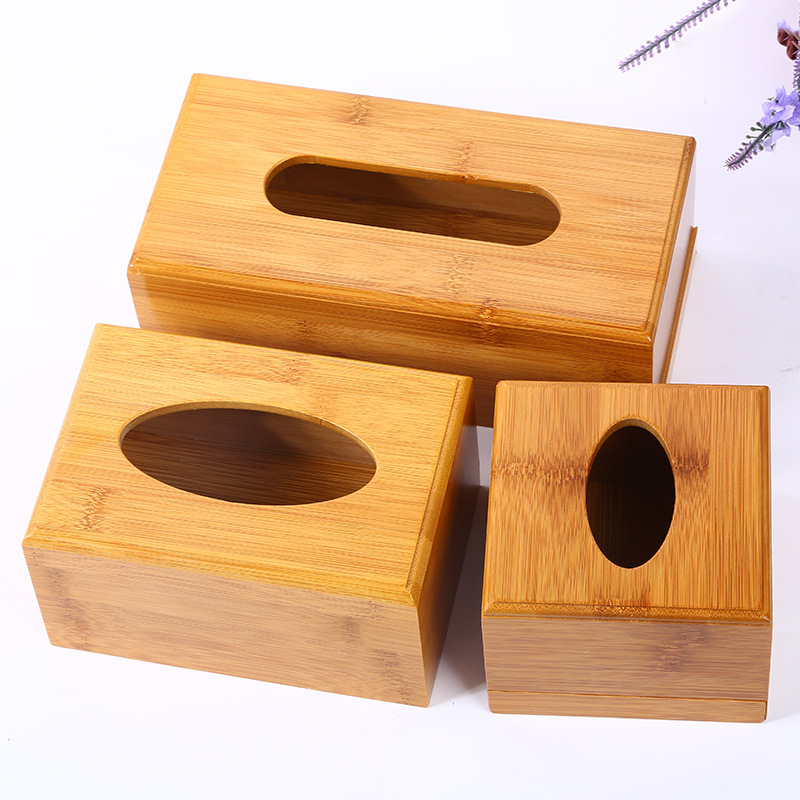 竹纸巾盒 厂家直销桌面收纳木纸巾i盒创意车用家居抽底木质纸巾