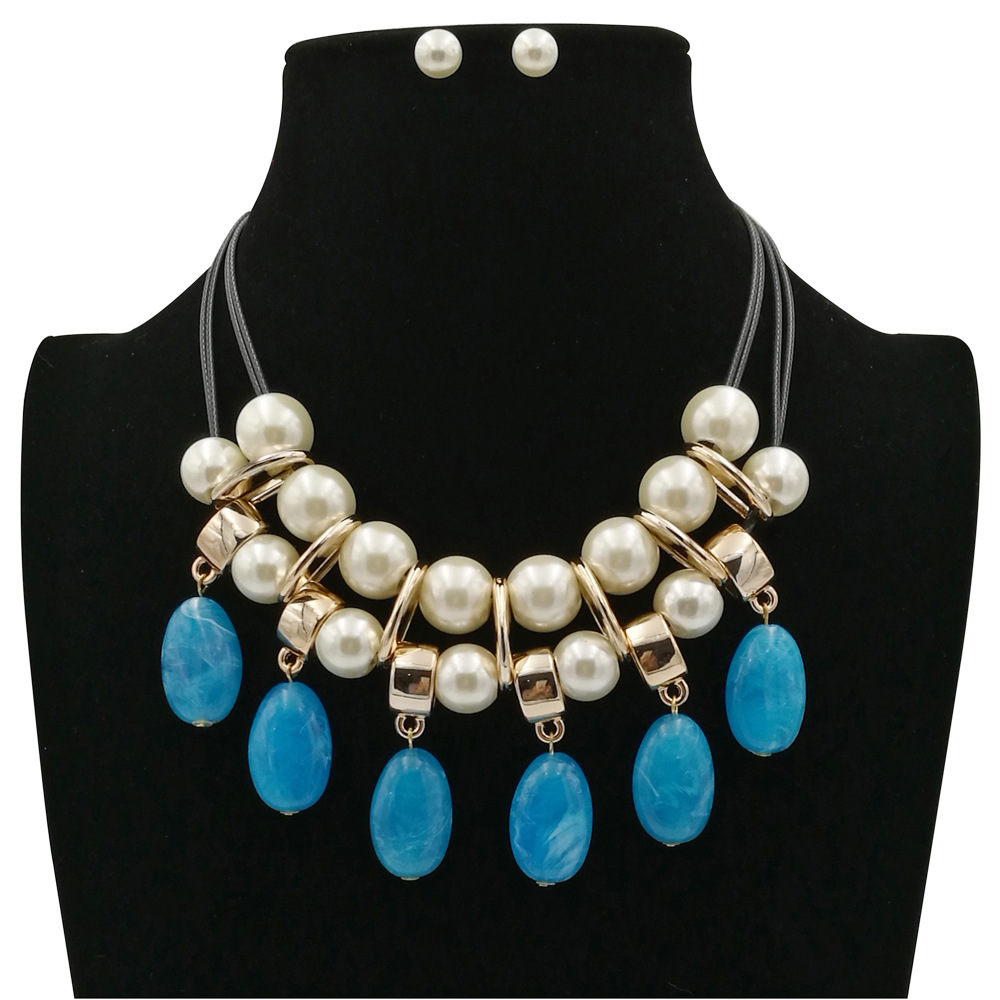 Occident and the United States pearlnecklace (black)NHCT0086-black
