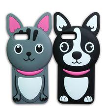 韩版可爱黑白纹猫狗硅胶手机壳潮牌厂家现模iphone7plus三星型号