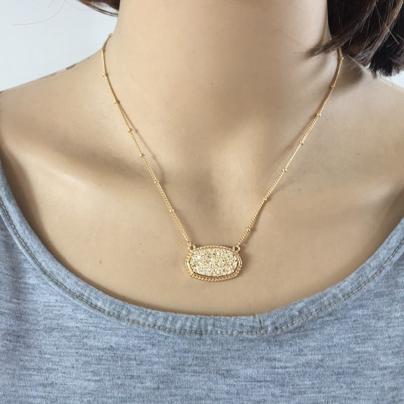 Alloy Fashion  necklace  (yellow) NHOM0009-yellow