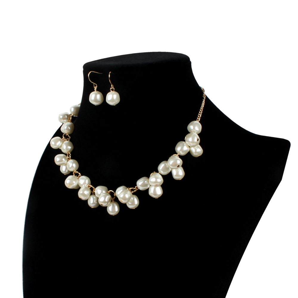 Occident and the United States pearlnecklace (creamy-white)NHCT0118-creamy-white