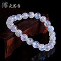 厂家批发月光石 天然水晶手链斯里兰卡蓝月光石手串蓝光透体饰品