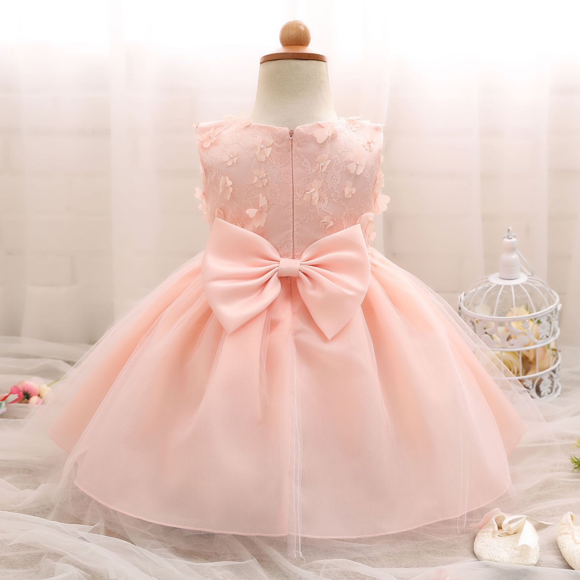 European And American Hot New Infant Bow Tie Dress e Year Old Baby