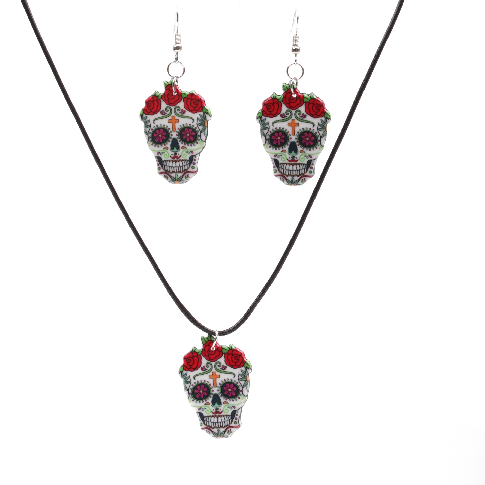 Alloy Fashion Flowers necklace  (Set) NHSK0358-Set