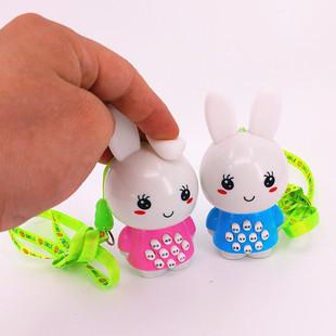 环保软耳朵迷你兔子故事机 儿童发光玩具早教机 宝宝学习机批发