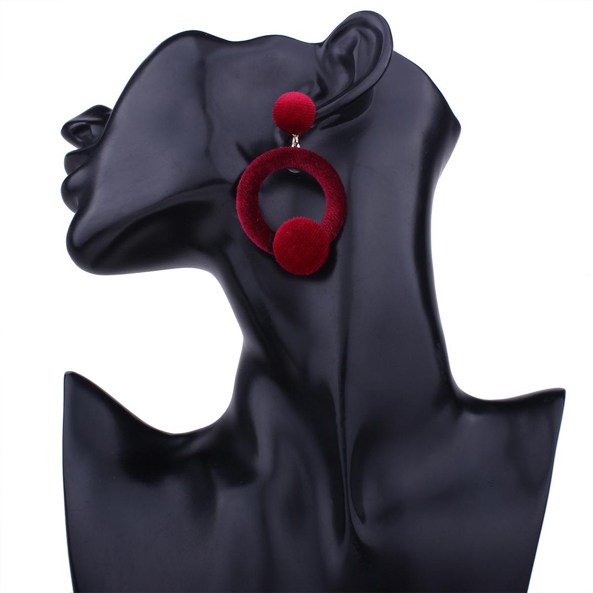 Korean Korean style Korean style alloy plating earring (ArmyGreen)NHNMD3856-ArmyGreen