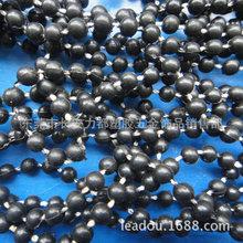 4mm固定珠鏈 黑色連線珠 電鍍連線珠 鍍AB彩塑料珠鏈 PS珠連線珠