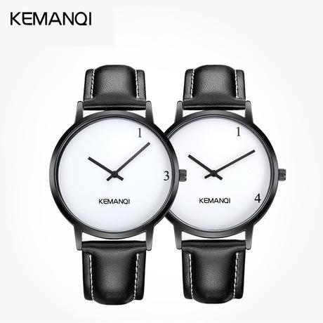 Đồng hồ đôi chính hãng 1314 chính hãng một cặp dây đeo sinh viên xu hướng giản dị đơn giản trên bàn đồng hồ thạch anh