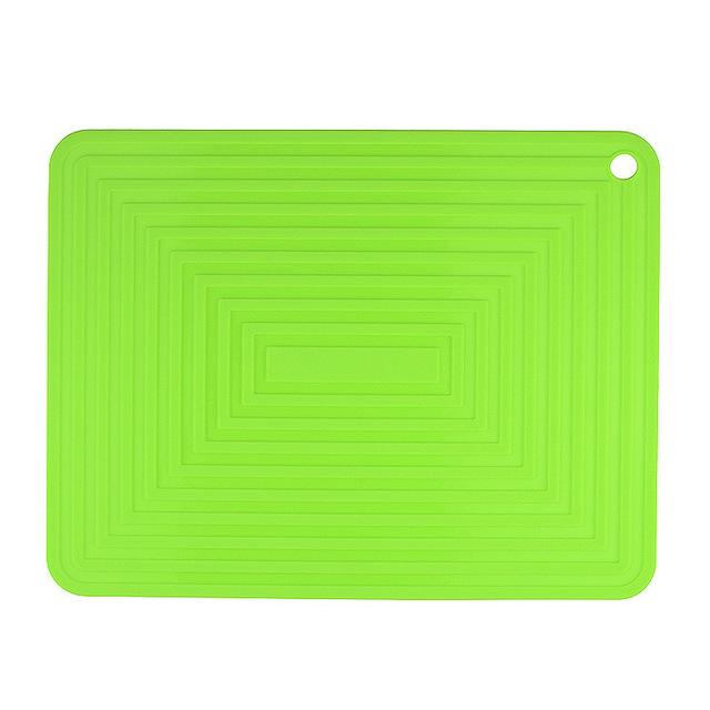 gợn sóng hình chữ nhật lớn cách mat silicone mat nồi pad mat bát mat cấp thực phẩm silicone mat pad Tây Silicone giả
