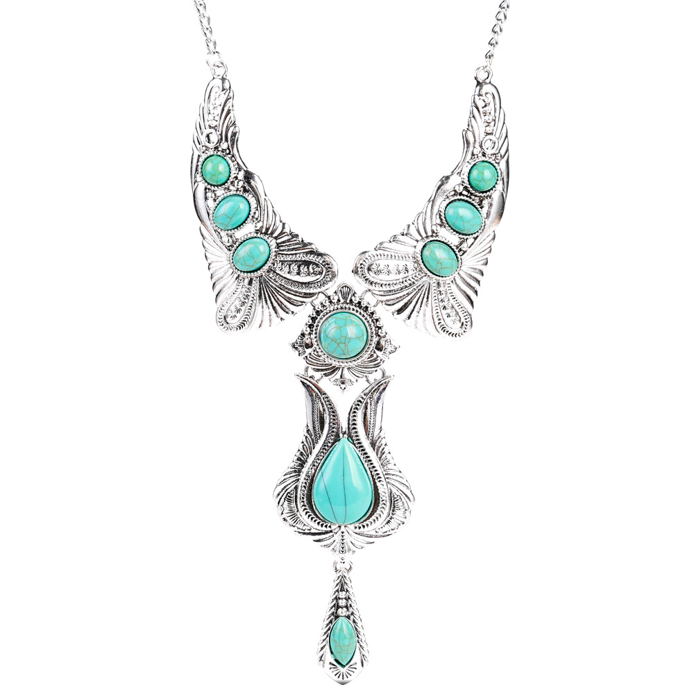 Exotic alloy plating necklace (color)NHJE0454-color