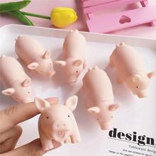 韩国ins日本可爱卡通迷你粉色小猪尖叫猪发泄小猪娃娃发声猪玩具