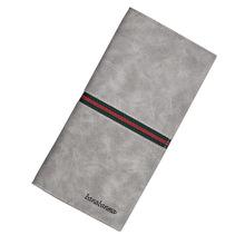 男士长款复古钱包韩版时尚西装包多卡位超薄皮夹卡包跨境电商批发