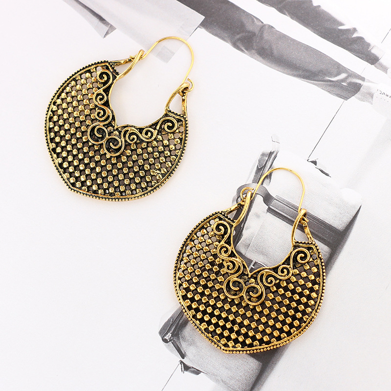 Retro alloy plating earring (Silver)NHGY0654-Silver