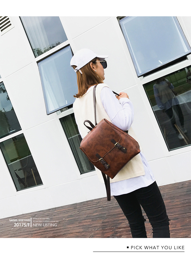 Korean version PUShoulder bag (brown)NHPB0432-brown