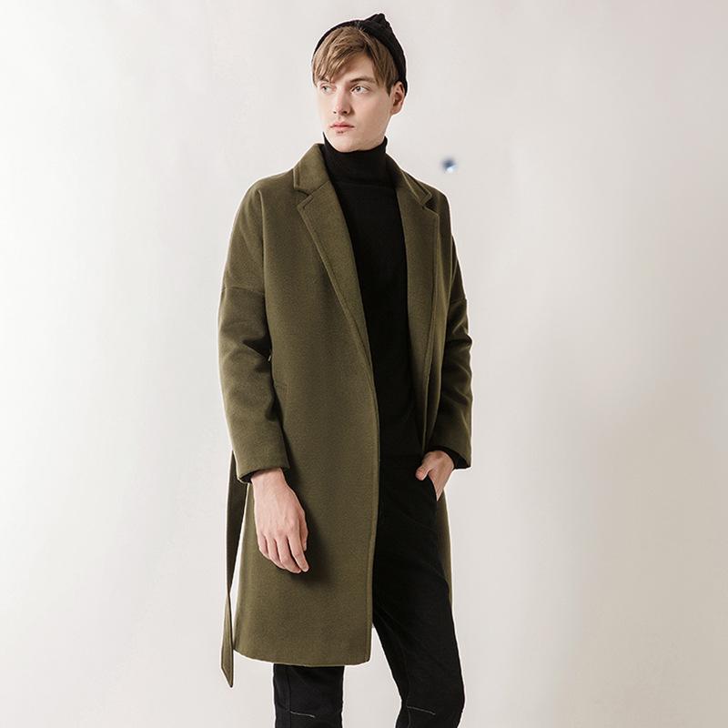 2017新款春秋季中长款风衣男士韩版修身外套男装W-B7-FY16