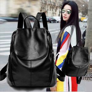 2018新款韩版羊皮双肩包女式软皮大容量旅行背包时尚休闲书包女