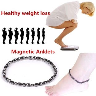 Black magnetic anklet bracelet AliExpress wish cross-border hot jewelry factory direct sales, large quantity and excellent price