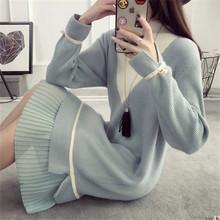孕婦裝哺乳衣針織衫秋冬新款喂奶毛衣長袖哺乳衣連衣裙