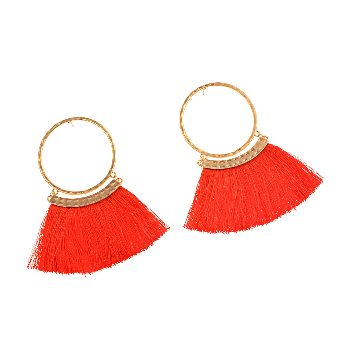 Occident and the United States alloy plating earring (B0826 rose red)NHXR1474-B0826 rose red