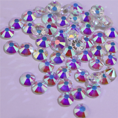 Rhinestones flat bottom drill bottomless bare drill white AB nail stick drill suit accessories accessories