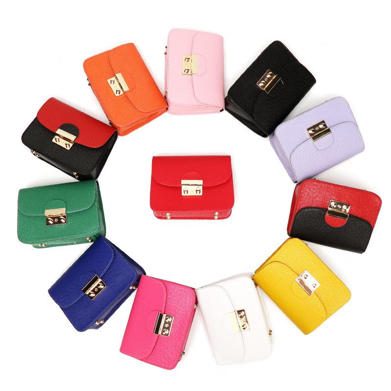 小包女链条小方包2020新款时尚单肩斜挎小包包十字纹女包厂家批发
