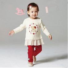 2017新款韩版童装外贸尾单婴童女童2色裙式长袖卫衣PBLA73841M
