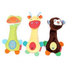 宝宝手摇铃可爱动物园系列宝宝毛绒手摇铃BB棒
