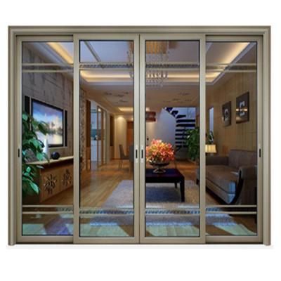 厂家供应门窗铝合金封阳台新款隔热推拉窗纱一体铝合金推拉门