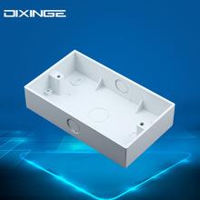 英规接线盒暗装布线明装下线明盒 英标墙壁开关插座146型英式底盒