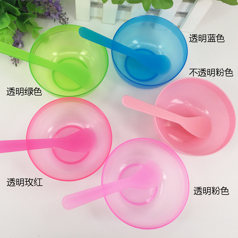 透明面膜碗套装 塑料 面膜棒 调膜碗 DIY美容化妆面膜工具 搅拌棒