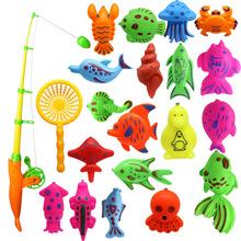 爆款22件套钓鱼玩具套装 磁性钓鱼沙滩玩具 夏天宝宝洗澡戏水玩具