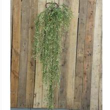 厂家仿真植物藤条金钟柳家居酒吧拍摄婚庆壁挂装饰花塑料仿真花长