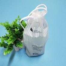 直销CPE束口穿绳袋 抽绳礼品塑料包装袋化妆棉收缩袋厂家定做