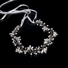 International Station Hot Headband Silver Rhinestone Bridal Mannequin Headband Bridal Styling Accessories