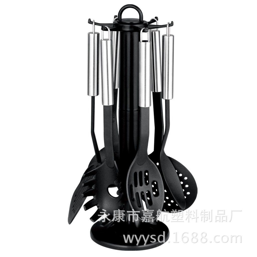 厂家直销 JH-14尼龙餐具 尼龙厨具7件套 尼龙铲 不粘锅专用铲
