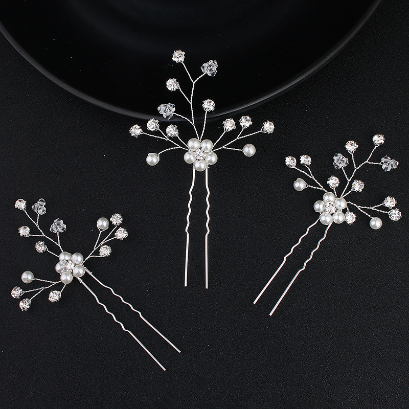 Beads Fashion Geometric Hair accessories  (Alloy) NHHS0154-Alloy