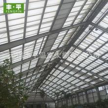 厂家直销连栋玻璃温室花卉大棚 批发农业种植塑料骨架花卉大棚