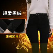 2017秋冬女装新款韩版时尚加厚加绒铅笔小脚裤修身显瘦打底裤女