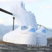 厂家直销2018春季新款小白鞋女潮韩版学生系带平底板鞋子一件代发
