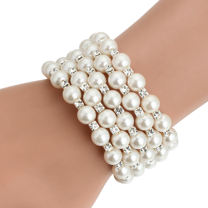 Korea style Pearlsbracelet (7 layers of gold)NHGY0571-7 layers of gold