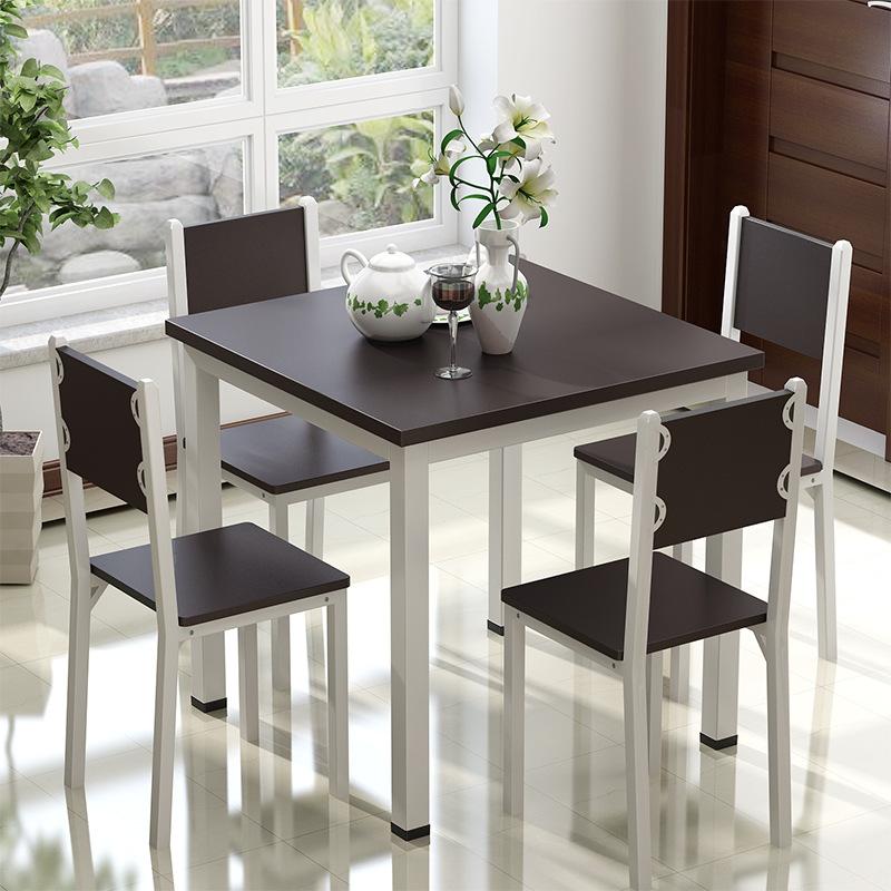 家用钢木简约餐桌 餐厅咖啡厅餐桌 小方桌小户型餐桌 尺寸可定做